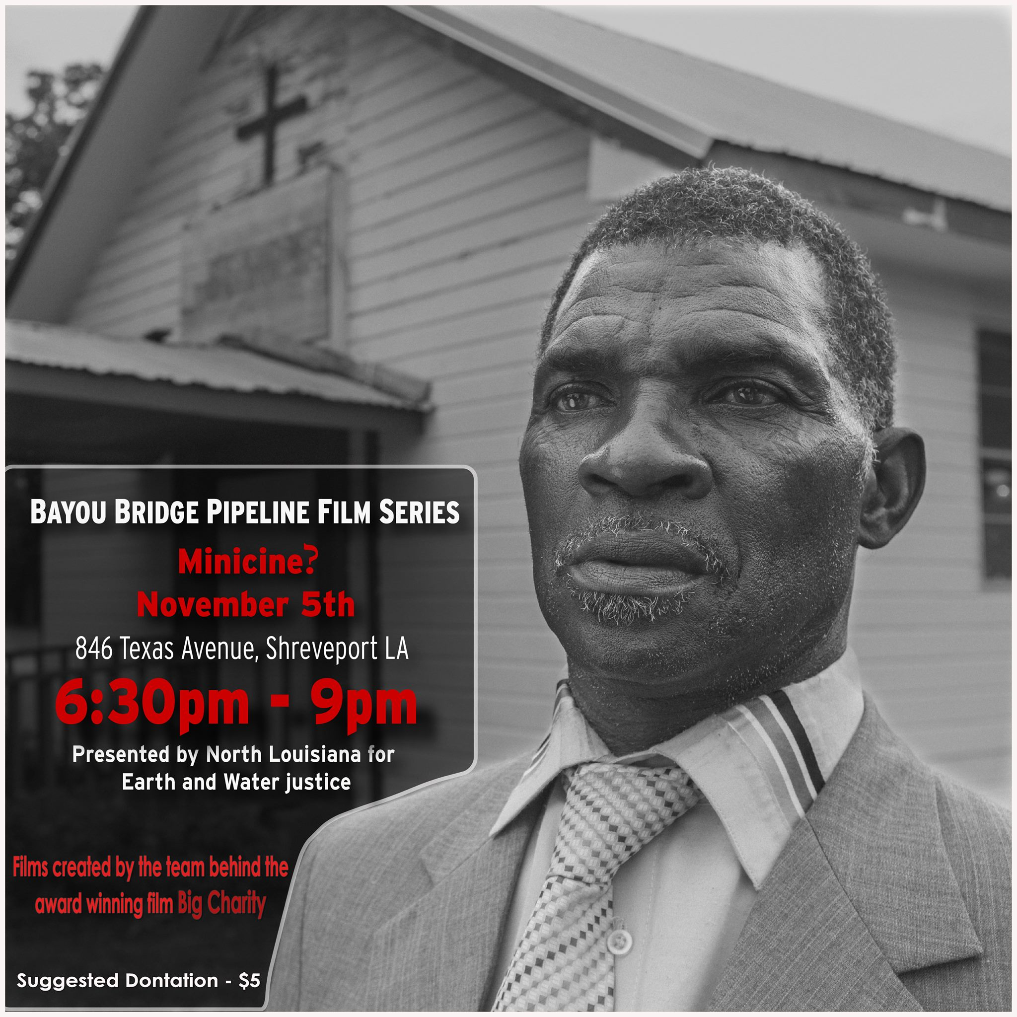 Flyer for Bayou Bridge Pipeline Film Series