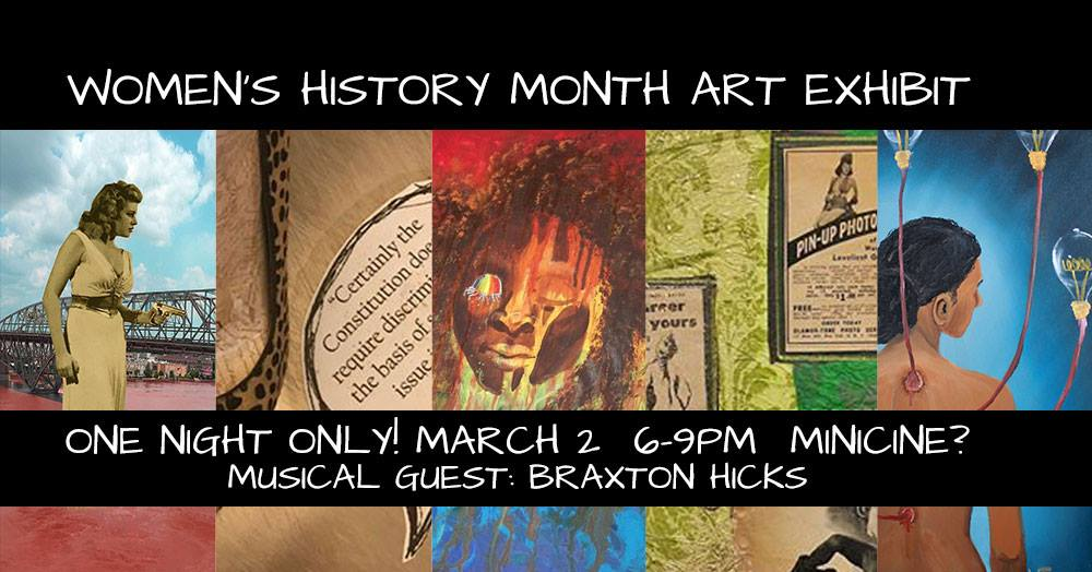 Women's History Month Art Exhibit flyer