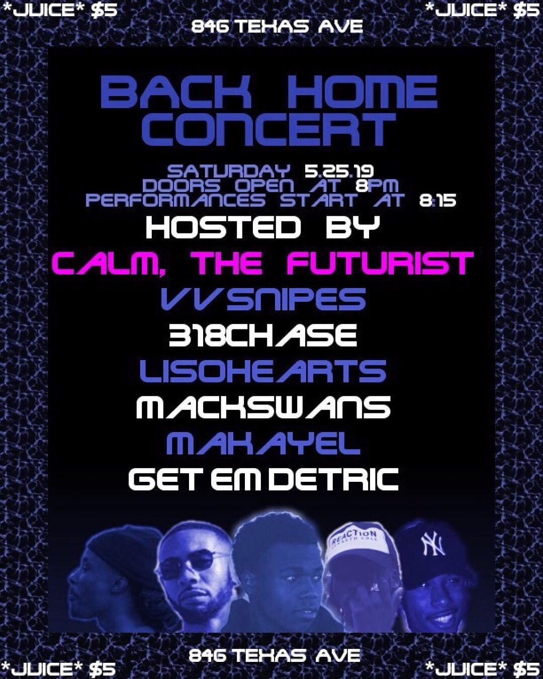 Back Home Concert flyer