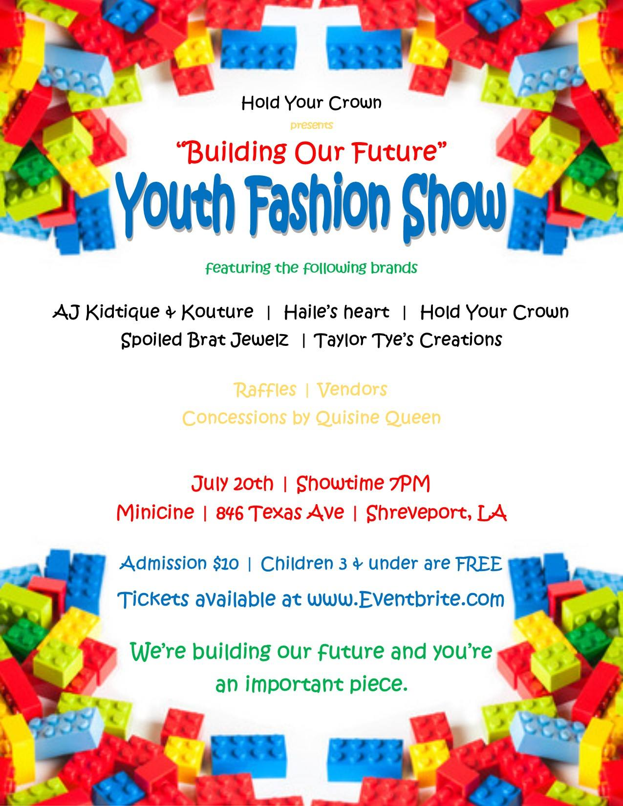 Building Our Future Youth Fashion Show flyer