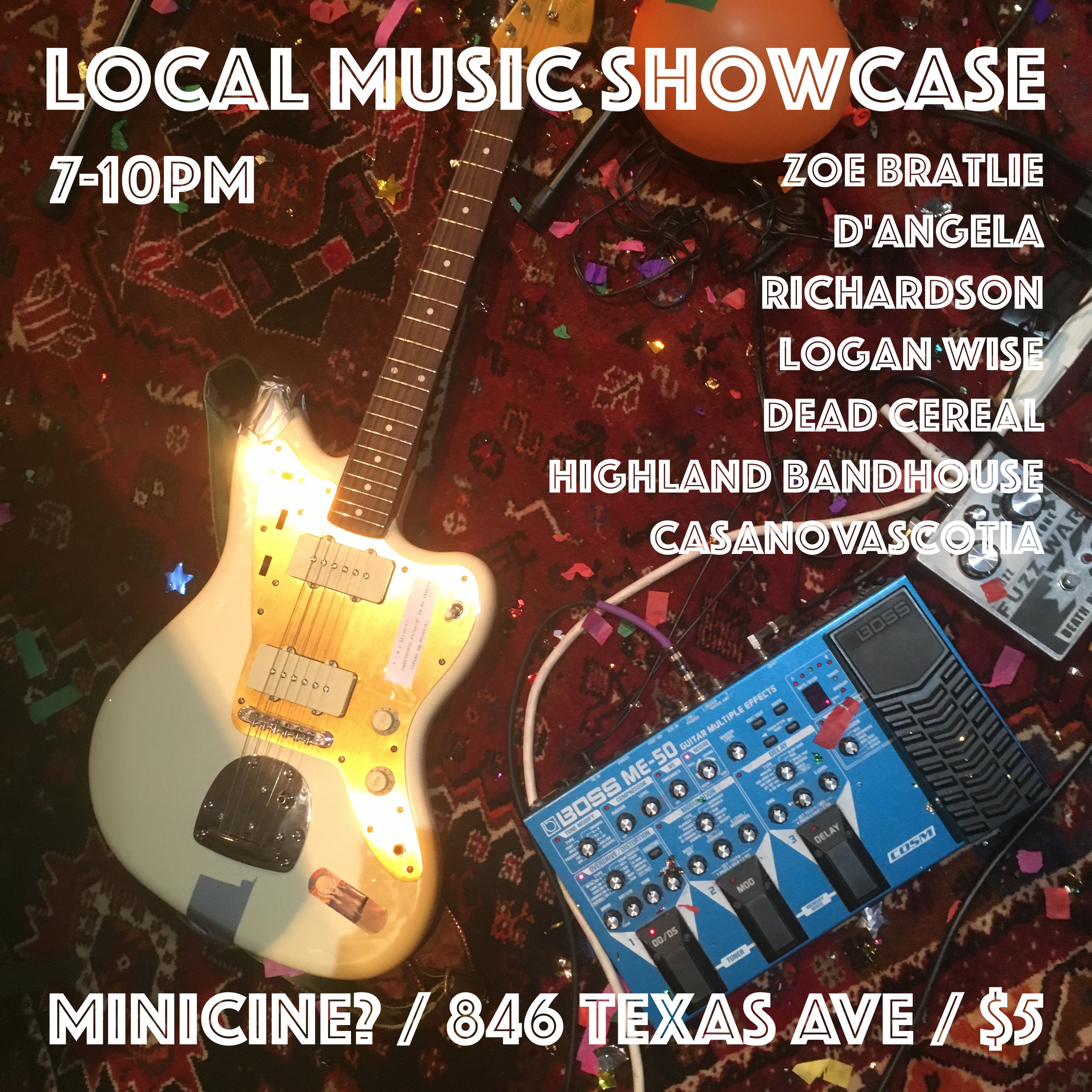 Local Music Showcase flyer